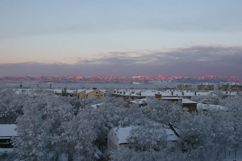 First snow of Winter, Yuzhno-Sakhalinsk