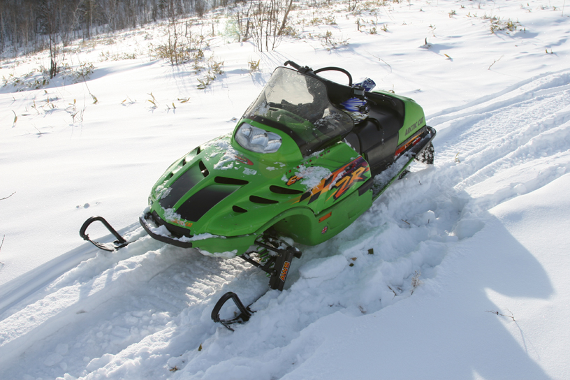 My latest toy: Arctic Cat ZR 600 EFI. Great fun!!