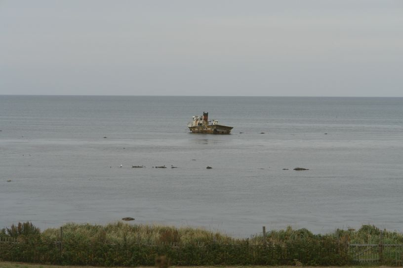 Abandoned ship, Sakhalin Island