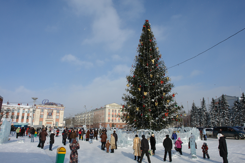 Lenin Square, Yuzhno-Sakhalinsk