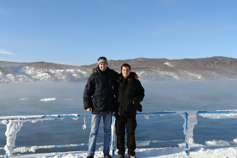Andrei Milovanov and me, Lake Baikal